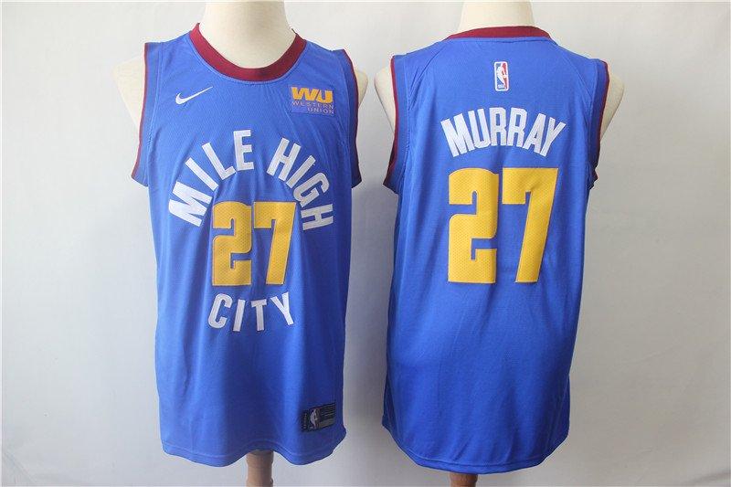 Men's Nuggets 27# Jamal Murray Basketball Jersey Blue