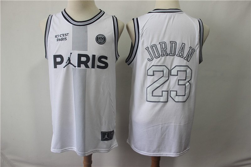 Men's Greater Paris and Jordan jointly named No. 23 White Jersey
