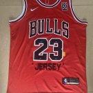 Men's Bulls 23# Michael Jordan 1985 Memorial Fan Edition Red Jersey