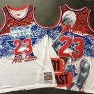 Men's Portrait plate 23# Michael Jordan 1991 all-star Game Jersey Fine Embroidery