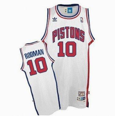info for da66f 84401 Men's Pistons Dennis Rodman Throwback Basketball Jersey White