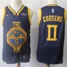 Men's Warriors 0# DeMarcus Cousins City Edition Swingman Jersey Navy