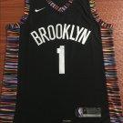 Men's Brooklyn Nets Dangelo Russell Black Jersey City Edition 2019