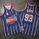 Men's BIG APE Jointly Rockets 93 Jersey Blue Fine Embroidery 2019