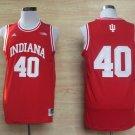 Men's Indiana Hoosiers 40# Cody Zeller NCAA Basketball Jersey Red