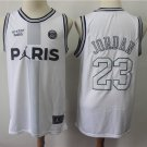 Men's Paris Saint Germain X 23 Michael Jordan White Jersey