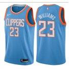 Men's LA Clippers #23 Lou Williams Basketball Jersey Light Blue