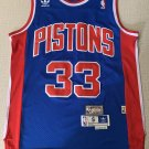 Men's Detroit Pistons #33 Grant Hill Basketball Jersey Blue Throwback