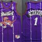 Men's Toronto Raptors 1# Tracy McGrady Purple Basketball Jersey Throwback