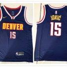 Men's Denver Nuggets #15 Nikola Jokic Player Jersey Navy Blue Stitched