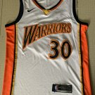 Men's Warriors #30 Stephen Curry Basketball Jersey White Throwback New