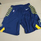 Men's Indiana Pacers Basketball Shorts Navy Blue Statement Edition