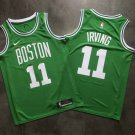 Men's Boston Celtics #11 Kyrie Irving Basketball Jersey Green Statement Edition