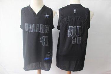 new styles ec904 4b574 Men's Mavericks #41 Dirk Nowitzki Jersey Black MVP Honorary ...