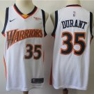 Men's Warriors #35 Kevin Durant Jersey White Retro Flash Edition