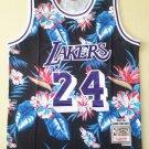 Men's Lakers Mitchell & Ness Floral Fashion 24# Kobe Bryant Jersey Black
