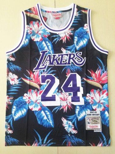 Men's Lakers Mitchell & Ness Floral Fashion 24# Kobe Bryant ...