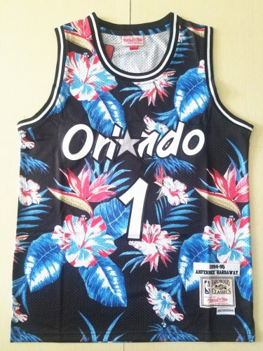 in stock 5ea7d 8cef8 Men's Magic Mitchell & Ness Floral Fashion #1 Penny Hardaway ...