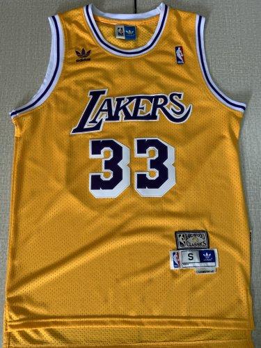 competitive price d16d4 6c884 Men's Lakers #33 Kareem Abdul-Jabbar Basketball Jersey ...