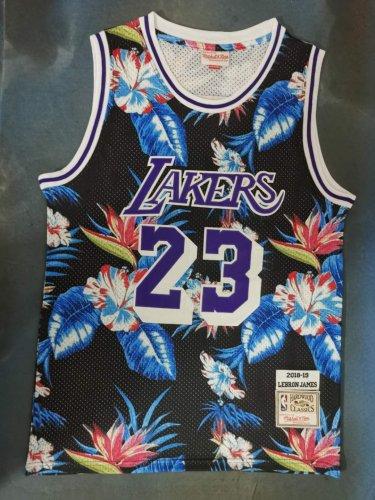 wholesale dealer 59e7a 5b216 Men's Lakers Mitchell & Ness Floral Fashion #23 LeBron James ...