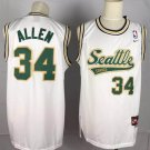 Men's Seattle Supersonics #34 Ray Allen Throwback Jersey White