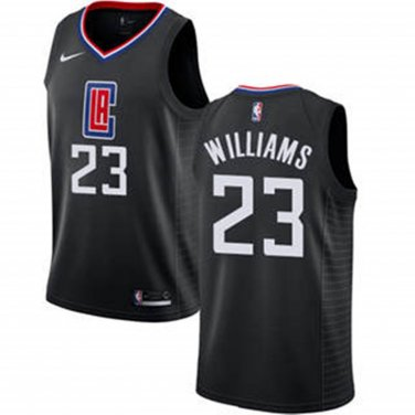 pretty nice 0dcba 12783 Men's LA Clippers #23 Lou Williams Basketball Jersey Black ...