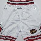 Men's Chicago Bulls Nike JUST DON Basketball Shorts White Throwback 1997