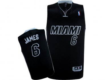 free shipping 25708 4e6ef Men's Miami Heat #6 LeBron James Basketball Throwback Jersey ...