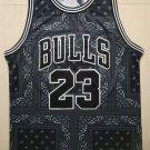 Men's Bulls #23 Michael Jordan Basketball Jersey Black Fashion Printing 2019