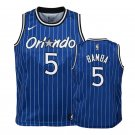 Men's Orlando Magic 5# Mohamed Bamba Basketball Jersey Royal Blue