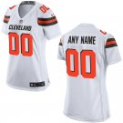 Women's Cleveland Browns Nike Custom Game Football Jersey White