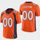 Men's Denver Broncos #00 Custom Limited Football Jersey Orange