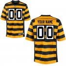 Any Size Pittsburgh Steelers Nike Custom Game Football Jersey Yellow Stripe