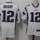 Men's New England Patriots 12# Tom Brady Elite Jersey White