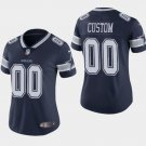 Women's Dallas Cowboys Custom Name Numbers Limited Jersey Navy