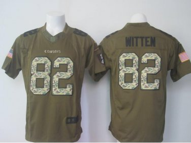 huge discount 37145 8ef68 Men's Dallas Cowboys #82 Jason Witten Salute To Service ...