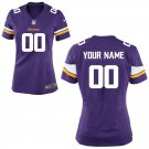 Women's Minnesota Vikings Custom Name Numbers Game Jersey Purple