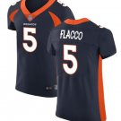 Men's Denver Broncos 5# Joe Flacco Elite Football Jersey Navy Blue