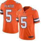 Men's Denver Broncos 5# Joe Flacco Color Rush Jersey Orange