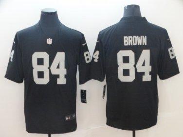 new product b9d27 6fcbd Men's Oakland Raiders #84 Antonio Brown Limited Jersey Black