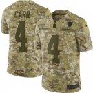 Men's Raiders 4# Derek Carr Limited Salute To Service Jersey Camo
