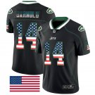 Men's New York Jets #14 Sam Darnold Limited USA Flag Jersey Black
