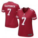 Women's 49ers #7 Colin Kaepernick Game Football Player Jersey Red