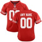Youth San Francisco 49ers Custom Made Game Football Jersey Red