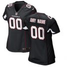 Women's Arizona Cardinals Custom Made Game Football Player Jersey Black