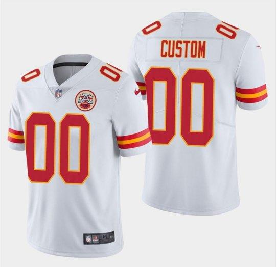Any Size Kansas City Chiefs Custom Made Limited Football Jersey White