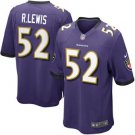 Any Size Baltimore Ravens #52 Ray Lewis Game Purple Jersey