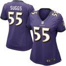 Womens Baltimore Ravens #55 Terrell Suggs Game Jersey Purple