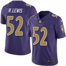 Any Size Baltimore Ravens #52 Ray Lewis Color Rush Purple Jersey