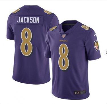 save off 39254 c5f9e Any Size Baltimore Ravens #8 Lamar Jackson Color Rush Purple ...